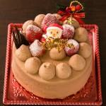 クリスマス生チョコケーキ